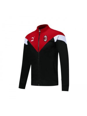 AC Milan Black Red White Soccer Jacket 2019-2020