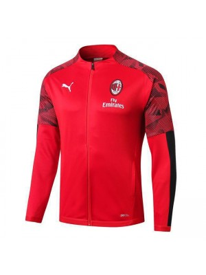 AC Milan Red Long Zipper Jacket 2019-2020