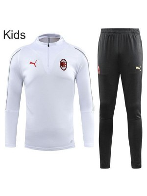 AC Milan White Kids Kit Cerniera con collo 2018-2019