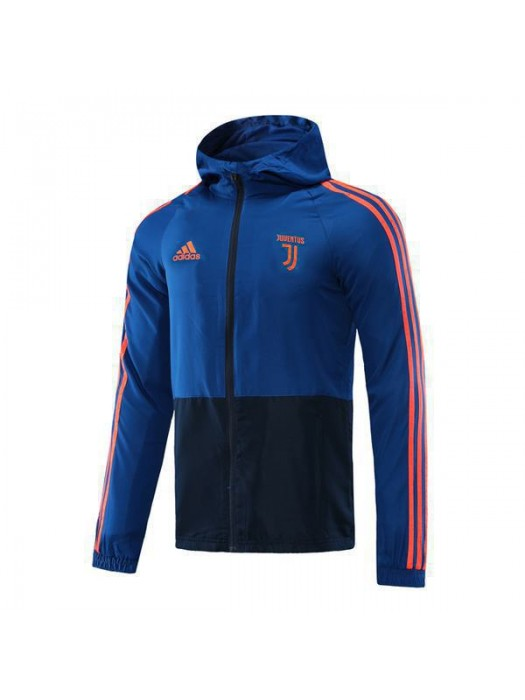 Juventus Royal Blue Black Soccer Windrunner 2020