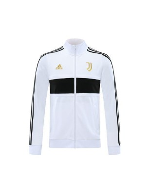 Juventus Mens Football White Player Version Soccer Jacket Gold Logo 2020-2021