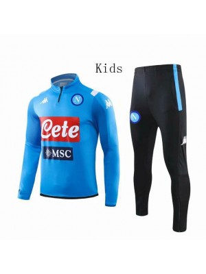 SSC Napoli Blue High-neck Kids Tracksuit 2019-2020