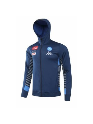 SSC Napoli Dark Blue Hoodie Mens Soccer Jacket 2020-2021