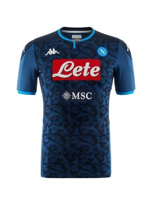 SSC Napoli Goalkeeper Blue Match Jersey Mens Soccer Shirt 2019-2020