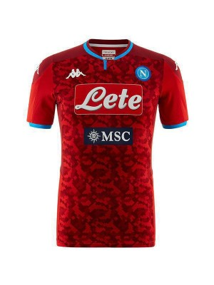 SSC Napoli Goalkeeper Red Match Jersey Mens Soccer Shirt 2019-2020