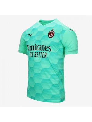 AC Milan Goalkeeper Blue Soccer Jersey Football Shirts Uniforms 2020-2021