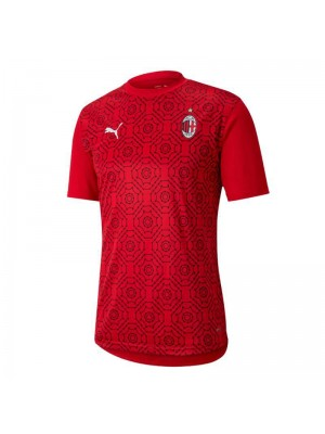 AC Milan Training Red Soccer Jersey Football Shirts Uniforms 2020-2021