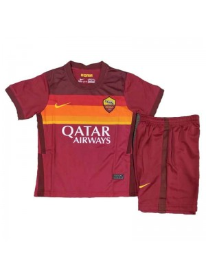 As Roma Home Kids Kit Soccer Jersey Football Youth Uniforms 2020-2021