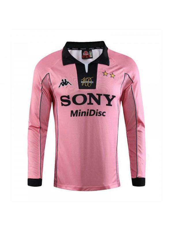 Juventus Away Long Sleeve Retro Mens Soccer Jersey Football Shirt ...