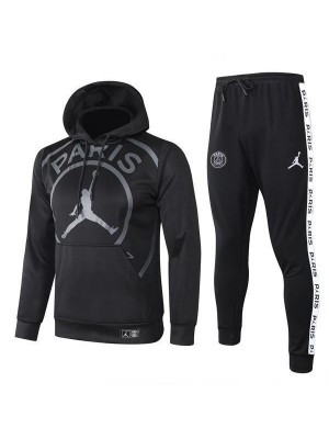 Jordan Paris Saint Germain Black Hoodie Causal Jacket 2020-2021