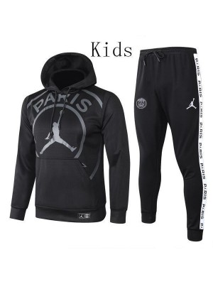 Jordan Paris Saint Germain Black Hoodie Causal Kids Jacket Kit 2020-2021