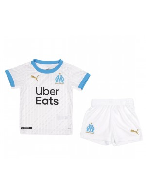 Olympique de Marseille Kids Childs Young Kit Home Soccer Jersey Football Clothes Uniform 2020-2021