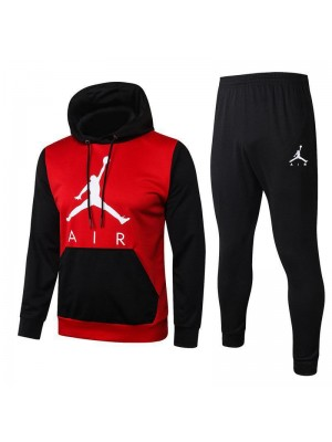 Jordan Air Black Sleeve Red Hoodies Tracksuit 2020-2021