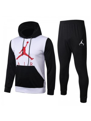 Jordan Air Black Sleeve White Hoodies Tracksuit 2020-2021