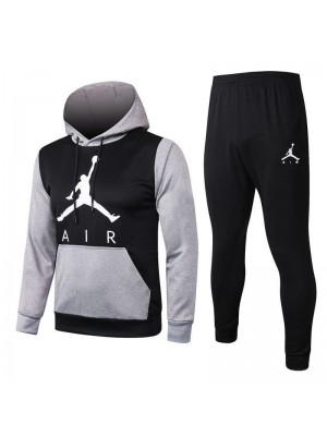 Jordan Air Gray Sleeve Black Hoodies Tracksuit 2020-2021
