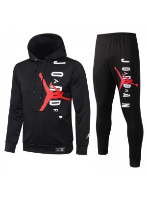Jordan Air Paris Saint-Germain Black Hoodies Tracksuit 2020-2021