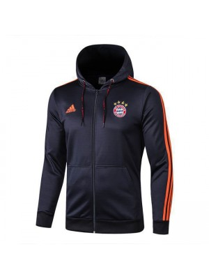Bayern Munchen Long Zip Royal Blue Hoodie Jacket 2019-2020