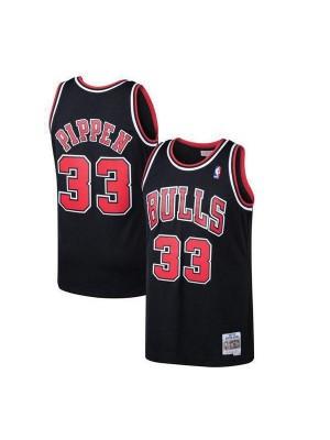Chicago Bulls Scottie Pippen 33# Mitchell&Ness Black Hardwood Classics Swingman Jersey 1995-1996