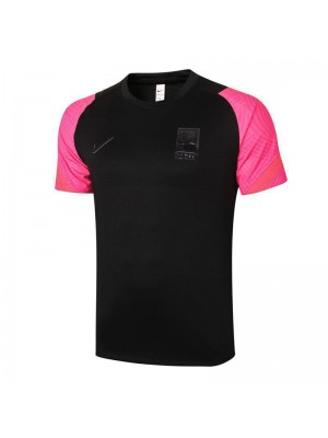 Korea Black Short Sleeve Training Soccer Jerseys Mens Football Shirts Uniforms 2020-2021