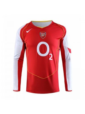 Arsenal Retro Home Long Sleeve Soccer Jerseys Mens Football Shirts Uniforms 2006