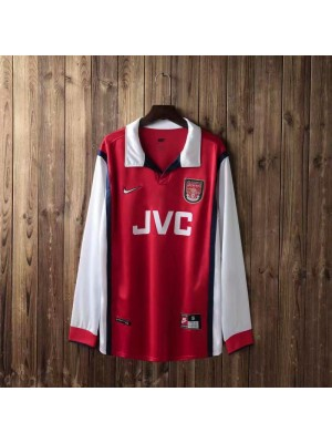 Arsenal Retro Home Long Sleeve Soccer Jerseys Mens Football Shirts Uniforms 1998