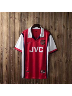 Arsenal Home Retro Football Mens Soccer Jersey 1998