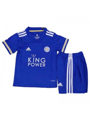 Leicester City Home Soccer Jerseys Kids Kit Football Shirts Uniforms 2020-2021