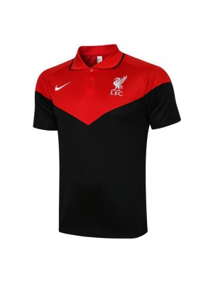 Liverpool Soccer Black/Red Jersey Football Polo Uniform 2021-2022