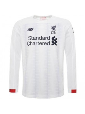 Liverpool Away Long Sleeve Jersey Mens Football Shirt 2019-2020