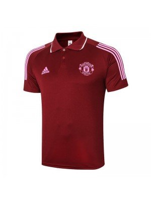 Manchester City Red Soccer Jerseys Football Polo  2020-2021