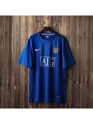 Manchester United Away Retro Mens Soccer Jersey Football Shirt 2007-2008