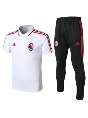 AC Milan Men Polo + Pant Kit White 2017/18