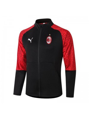 AC Milan Red Sleeve Black Jacket Tracksuit 2020-2021