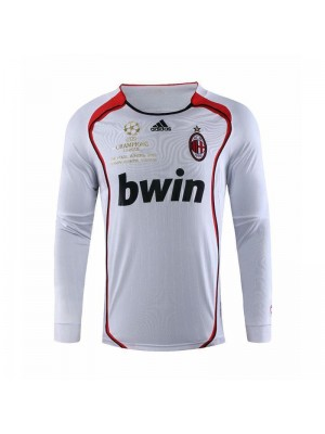 AC Milan Retro Long Sleeve Champions League Version Soccer Jerseys 2006-2007