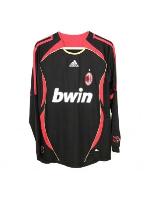 AC Milan Retro Long Sleeve Third Soccer Jerseys Mens Football Shirts Uniforms 2006-2007