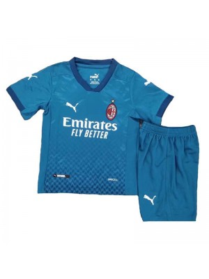 AC Milan Third Soccer Jersey Kids Kit Football Youth Uniforms 2020-2021