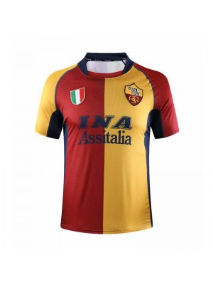 AS Roma Home Soccer Jerseys Mens Football Shirts Uniforms 2001-2002