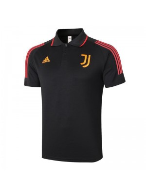 Juventus Soccer Jerseys Black Golden Logo Football Polo Uniform 2021-2022